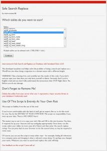 Search and Replace for WordPress Databases